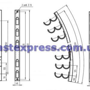 Кронштейны кабельные рожковые и полочные