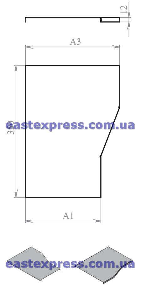 Крышка сужения КСЛ и КСП (левая и правая)