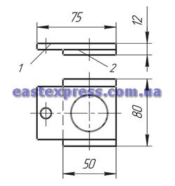 Планка сталеалюминиевая У1040