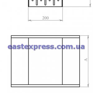 Снижение перфорированное СНС(симметричное): H200