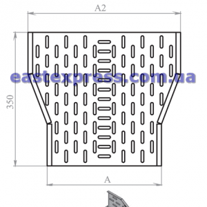 Сужение перфорированное ССП(симметричное): H100