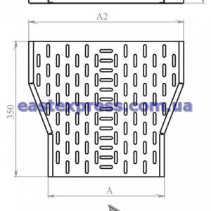 Сужение перфорированное ССП(симметричное): H200