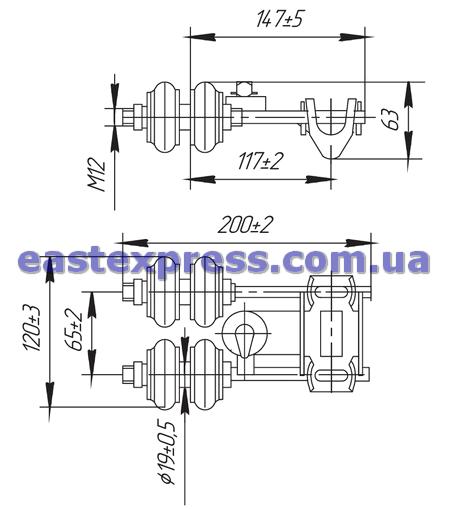 Токоприемник ТКН-12Б-1