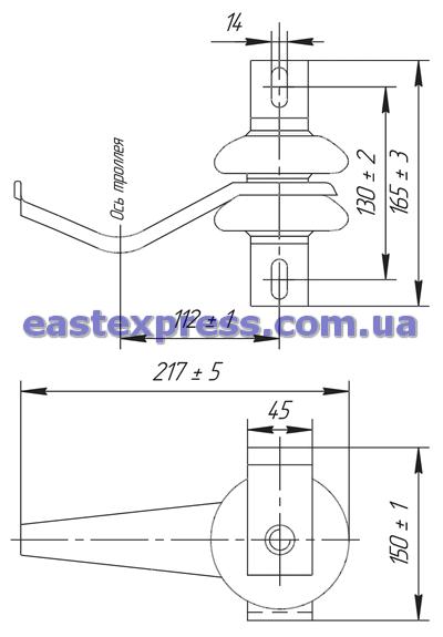 Троллеедержатель ДТН-12Б-1